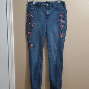 d. jeans Embroidered Jeans Ladies Size 8
